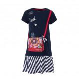 Afbeelding van Desigual A lijn jurk met applicatie en pailletten donkerblauw