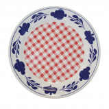 Afbeelding van Boerenbont & bonter bord plat 25,5cm rode ruit