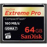 Afbeelding van SanDisk 64GB Compact Flash Extreme Pro 160MB/s geheugenkaart