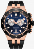 Afbeelding van Edox 10109 357RNCA BUIRA herenhorloge blauw edelstaal PVD rosé