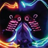 Afbeelding van LED schoenveters Roze basicXL