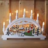 Afbeelding van Best Season decoratieve lichtboog Kerstman 7 l., hout, E10, 3 W, energie efficiëntie: E, B: 45 cm, H: 33 cm