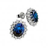 Afbeelding van Diamonfire 806.0074.00 Oorbellen The Royal, Kate zilver blauw