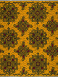 Zdjęcie Vlisco VL01282.006.04 Yellow African print fabric Wax Hollandais Decorative