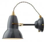 Afbeelding van Anglepoise anglepoise® Original 1227 Brass wandlamp grijs, voor woon / eetkamer, staal, messing, E27, 20 W, energie efficiëntie: A++, H: 15 cm