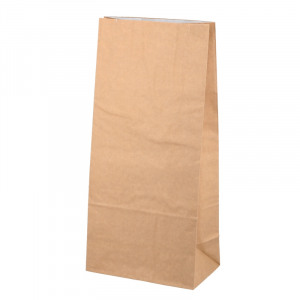 Imagem de Aluminium foiled paper bags 150+85x320mm Brown