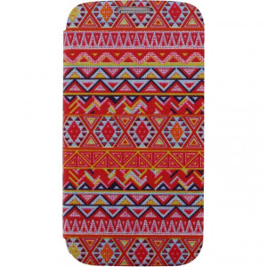 Afbeelding van Xccess Book Stand Case Samsung Galaxy S4 I9500/I9505 Aztec Orange Xc