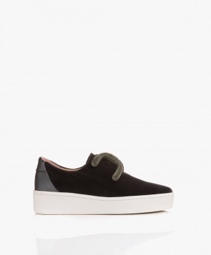 Zdjęcie An Hour And A Shower Sneakers Knot Low in Velvet Grey
