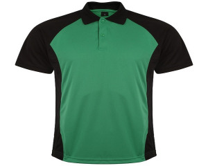 Image of Airosportswear Matchday Polo Black/Emerald