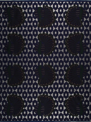 Zdjęcie Vlisco VL00012.216.02 Blue African print fabric Limited Editions Decorative