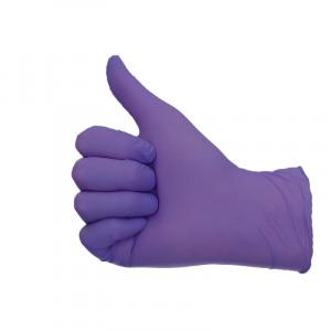 Zdjęcie Allergy free nitrile gloves powder free violet L