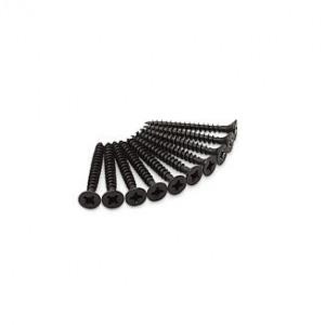 Afbeelding van 10 stuks zwarte schroeven voor scharnieren RVS, Torx 4,5 x 40 mm
