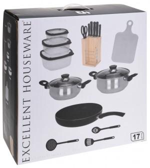 Afbeelding van Excellent Houseware Keukenset Set van 18 Multicolor