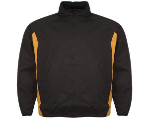 Image of Airosportswear Tracksuit Top/ Shower Jackets Black/Amber