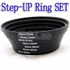 """Bild av """"Step UP Ring Set 49,52,55,58,62,67,72,77mm"""""""