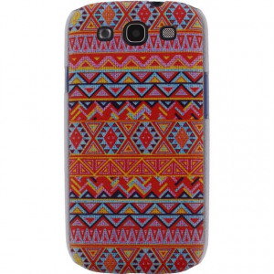 Afbeelding van Xccess Cover Samsung Galaxy SIII I9300 Orange Aztec