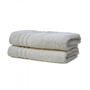 Afbeelding van 2 pack Luxe Katoenen Handdoeken van Silverstar Creme Koopjedeal De beste Deals & Dagaanbiedingen