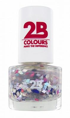 Afbeelding van 2B Nagellak Mega Colours Mini 49 Harlekino Violet Silver