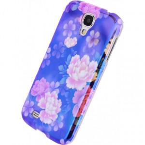 Afbeelding van Xccess Oil Cover Samsung Galaxy S4 I9500/I9505 Purple Flower