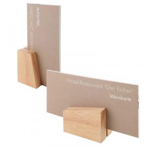 Abbildung von 2 Kartenhalter Holz ca. 8,5 x 6 cm, H?he 4,5/8,5 cm