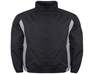 Image of Airosportswear Tracksuit Top/ Shower Jackets Navy/Silver