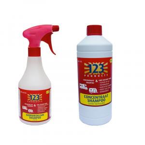 Afbeelding van 123 Products Clean pakket caravan en camper shampoo Reinigen & schoonmaken