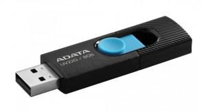 Billede af ADATA UV220, 8GB, USB 2.0 sort/blå (ae SGADA2G08UV220B)