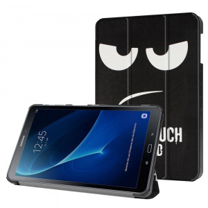 Afbeelding van 3 Vouw Don't Touch stand flip hoes Samsung Galaxy Tab A 10.1 inch (2016)