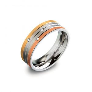 Afbeelding van Boccia 0135 02 Titanium ring Tricolor