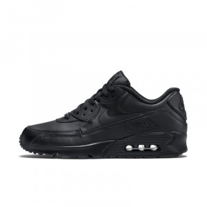 Image of Nike Air Max 90 Leather Men's Shoe Black