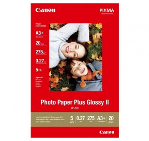 Billede af Canon PP 201 glossy fotopapir A3+ (329 x 423mm) 275g, 20 ark (2311B021)