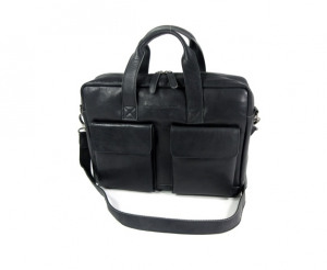 Afbeelding van 1 vaks 15,6 inch laptop business herentas ETHAN Soft Class zwart