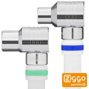 Afbeelding van 10m Coaxkabel Technetix Ziggo geschikt Wit kabelkeur 4G/LTE Proof