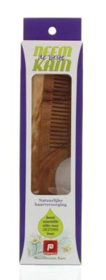 Afbeelding van Holisan Neem houten kam handvat fijn (1 stuks)