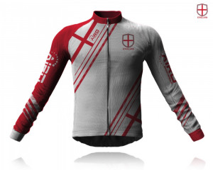 Image of Airosportswear Supporters England Cycling Jersey Long Sleeve