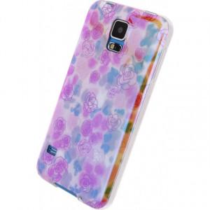 Afbeelding van Xccess Oil TPU Case Samsung Galaxy S5/S5 Plus/S5 Neo Yellow Flower X