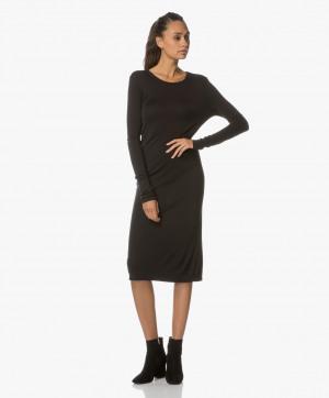 Bilde av Majestic Filatures Dress Jersey with Cut out in Black
