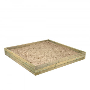 Zdjęcie Fatmoose Drewniana piaskownica BuddyBox Piaskownica z drewna dostępna w trzech wysokościach