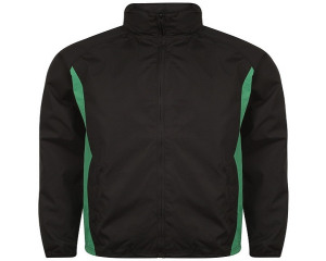 Image of Airosportswear Tracksuit Top/ Shower Jackets Black/Emerald