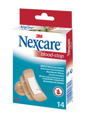 Afbeelding van 3m Nexcare bloedstop pleisters 3 maten 14 stuks
