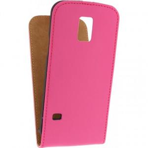 Afbeelding van Mobilize Ultra Slim Flip Case Samsung Galaxy S5 Mini Fuchsia Mobiliz