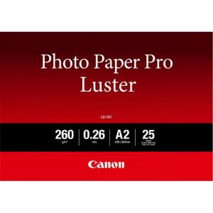 Billede af Canon LU 101 luster fotopapir A2, 260g, 25 ark (6211B026)
