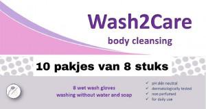 Afbeelding van Wash2Care washandjes ongeparfumeerd 10 pakken van 8 stuks
