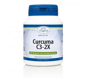 Afbeelding van Vitakruid Curcuma C3 2x, 60 Veg. capsules