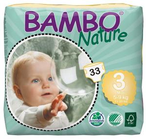 Afbeelding van Bambo Babyluier Midi 3 5 9 Kg, 33 stuks