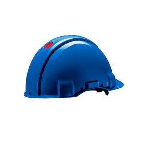 Afbeelding van 3M Peltor G3000DUV BB Veiligheidshelm met pinlock Blauw Leren sweatband