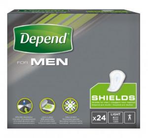 Afbeelding van Depend For Men Shields 10 pakken