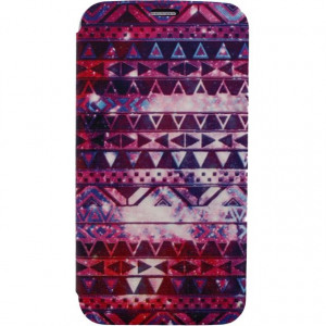 Afbeelding van Xccess Book Stand Case Samsung Galaxy S5/S5 Plus/S5 Neo Aztec Purple
