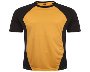 Image of Airosportswear Training T Shirts Black/Amber