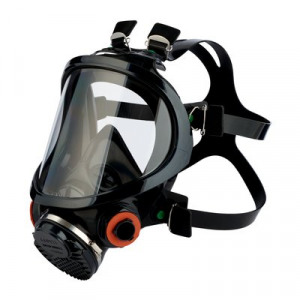 Afbeelding van 3M 7907S Volgelaatsmasker Zwart One Size Volgelaatsmaskers Met Bajonetaansluiting